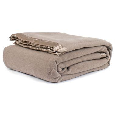 Jason Australian Wool Blanket Taupe