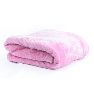 Jason Channel Faux Fur Throw Pink